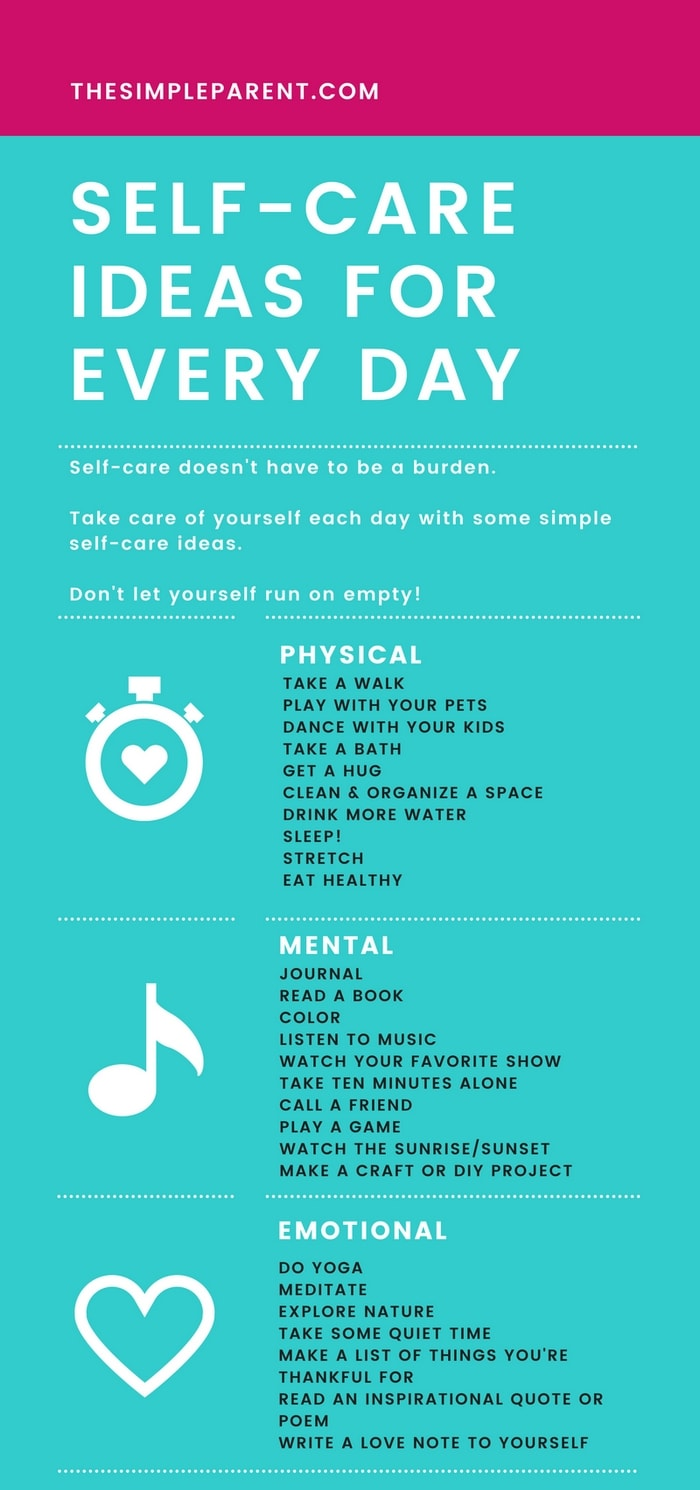 Self Care Ideas - Practicing self care activities on a daily basis will help you feel better. It's important for women (and for moms) to take care of their mental health. These five tips and things to do make it easy to love yourself each day!