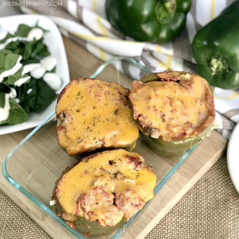 Learn how to make easy Crockpot Stuffed Peppers with Uncooked Rice!