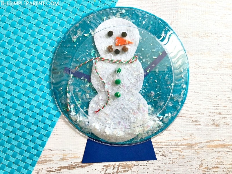 Snowman Waterless Snow Globe Craft