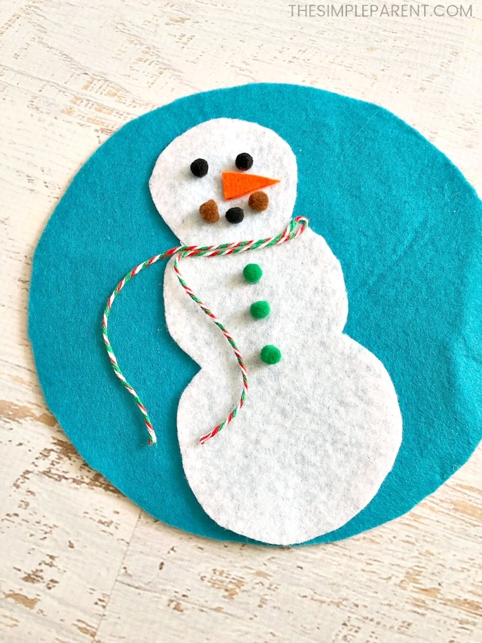 After you build your snowman, you'll make the snowglobe part of this craft!