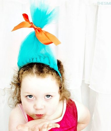 Make a Troll Hair Headband and have fun with your kids!