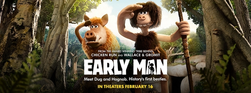 Check out the Early Man movie in theaters on February 16th! It's a great family movie to see together!