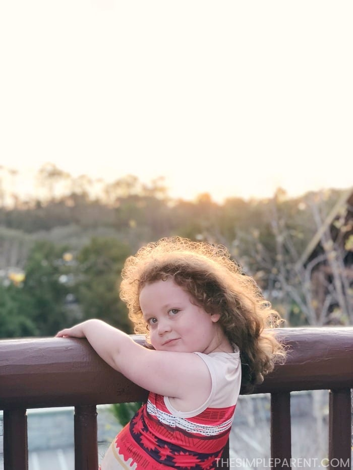 The intellectual development of a 4 year old is fun to watch. She loves to pose in pretty places!