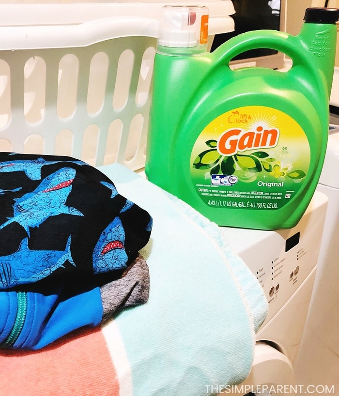 Making packing for the beach easy by getting your laundry done quickly!