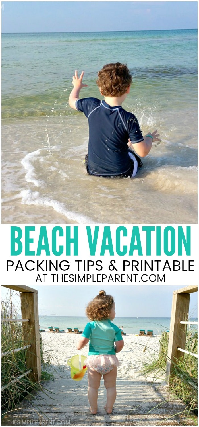 Packing for the Beach Checklist - Heading to beach destinations with kids this year? Don't forget any of the packing necessities with these easy ideas! Your familyl beach vacation needs more than just outfits! Don't forget any of the must haves with these easy ideas and a FREE printable!