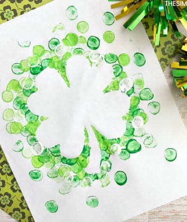 Shamrock Marshmallow Painting for St. Patrick's Day!