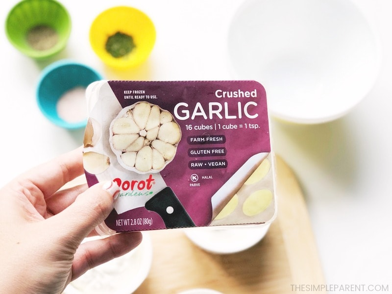 Dorot Gardens makes this garlic dipping sauce for pizza easier to make.