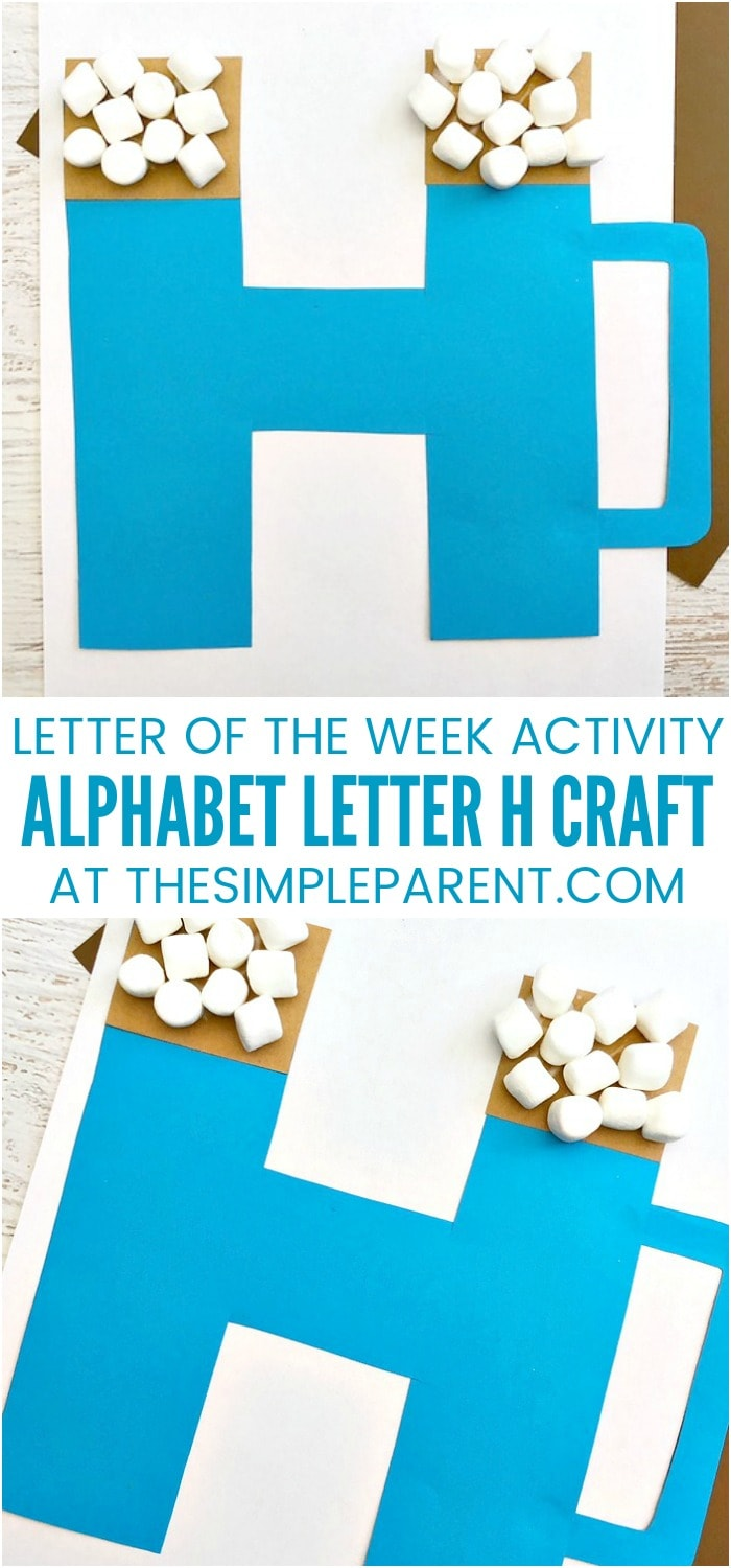 H Craft - Alphabet crafts for toddlers and for preschoolers are a great way to learn the letters! ABC activities like this letter H craft are fun ideas for kids and parents to make together!