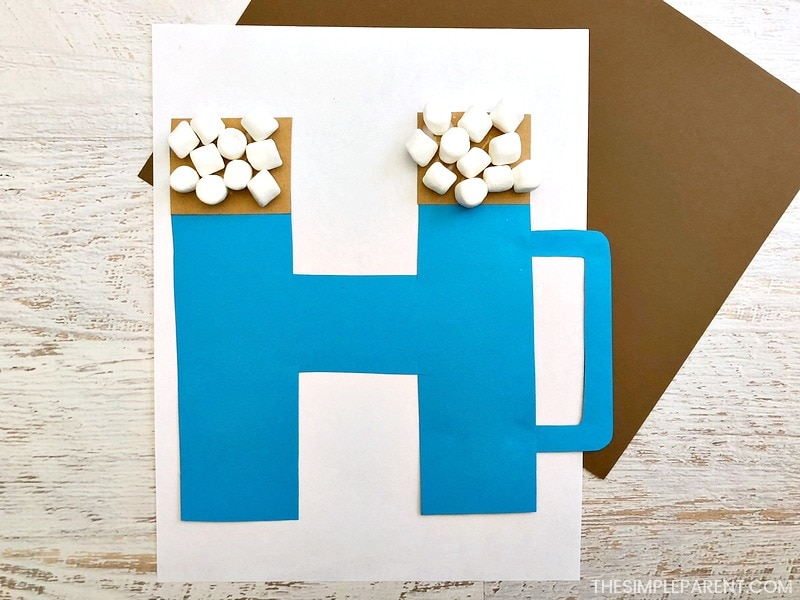 Finished Letter H Craft