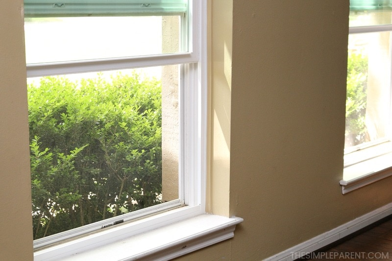 Making the house smell fresh by opening the windows.