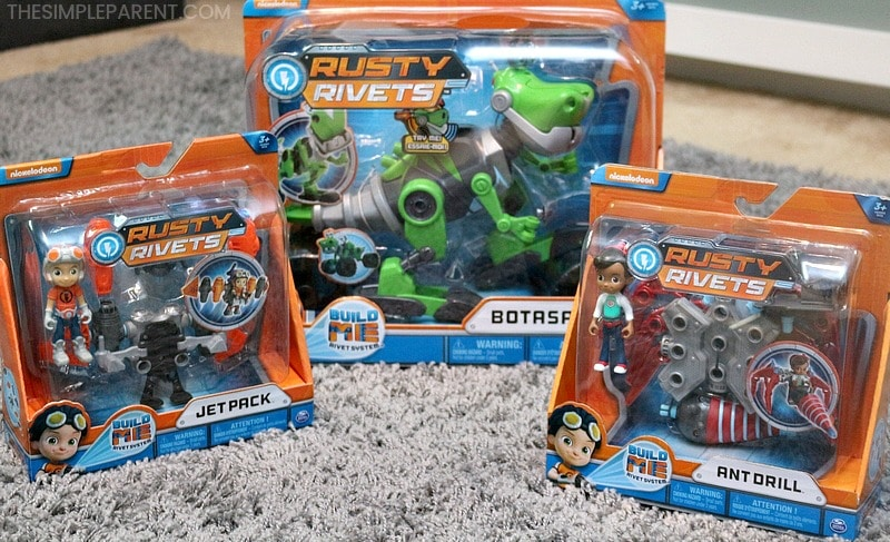 Some of the products in the Rusty Rivets toys collection.