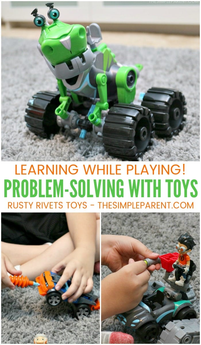 Rusty Rivets toys offer hours of fun and promote learning while your child plays! Problem-solving and creativity happen naturally with these collectible toys! They have interchangeable parts that keep the kids engaged and interested!