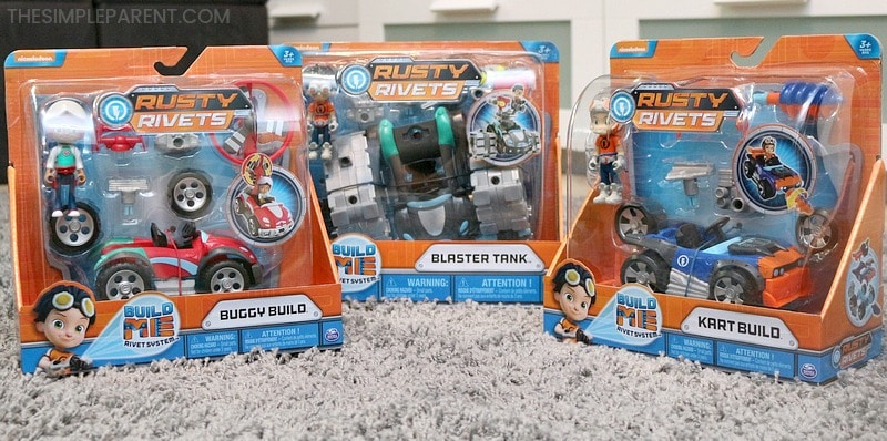 Sets from the Rusty Rivets toys collection by Spin Master.