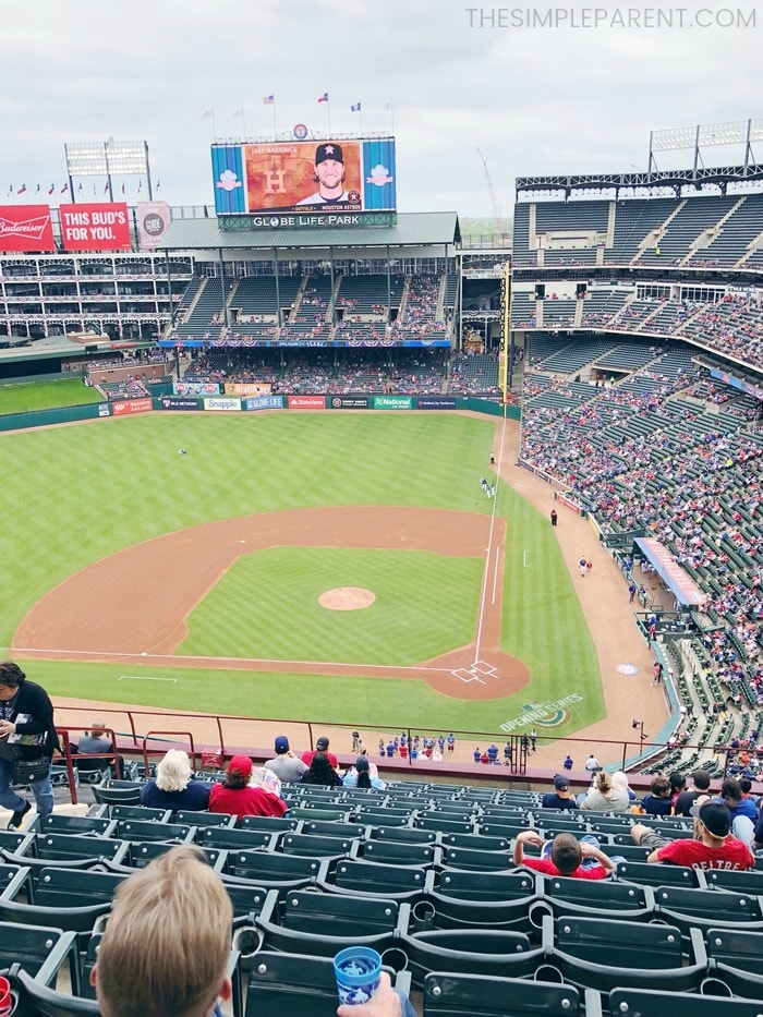 Globe Life Park is one of the family friendly things to do in Arlington, TX.