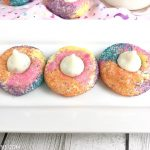 Unicorn poop cookies that are ready to eat!