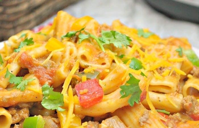 Instant Pot Cheesy Taco Pasta Recipe