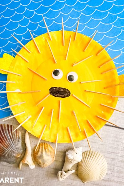 Puffer Fish Paper Plate Fish Craft