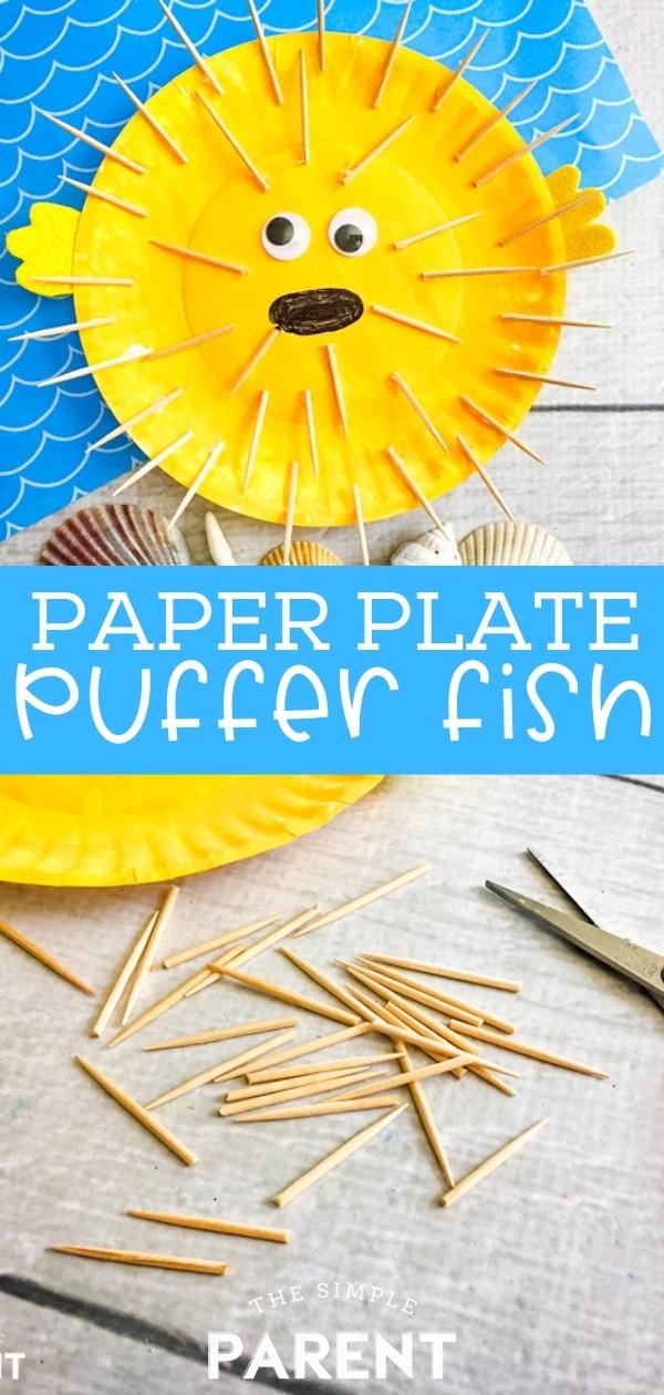Paper Plate Puffer Fish Craft