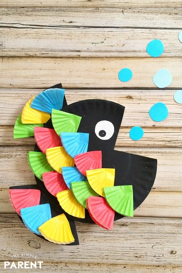 Paper Plate Rainbow Fish Craft