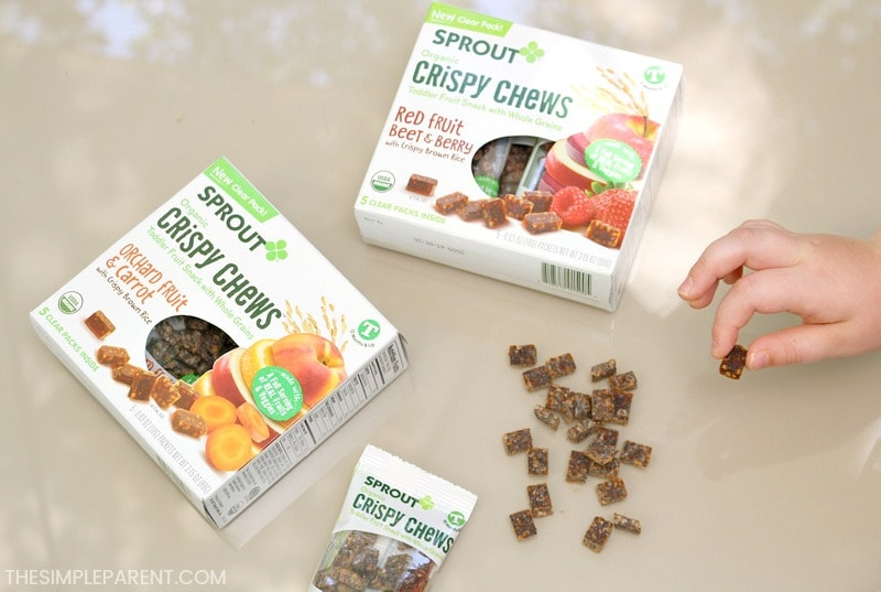 Sprout Crispy Chews snacks for kids