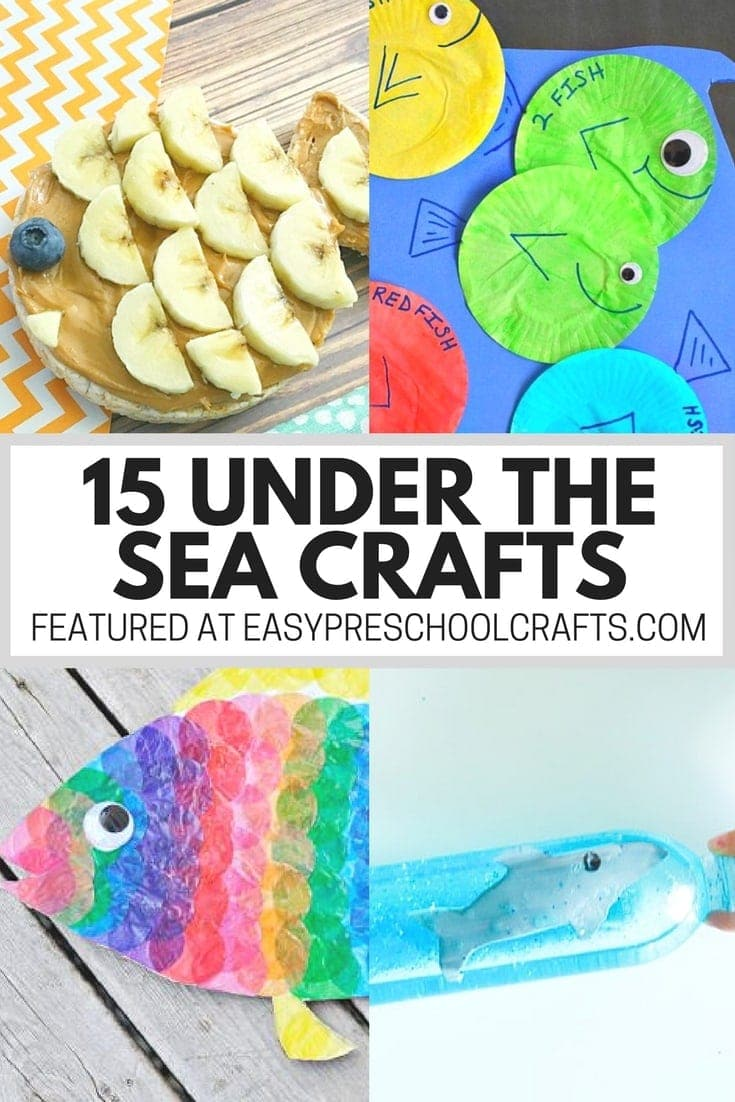 Under the Sea Crafts for Preschool - You don't have to be in the classroom to do a fun ocean theme with your kids. These DIY and art activites are easy to do and work great for toddlers, preschoolers, and kindergarten aged kids! Check out the two different jellyfish crafts!