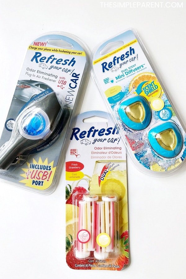 Variety of Refresh Your Car products that are some of the best car cleaning tips for busy families