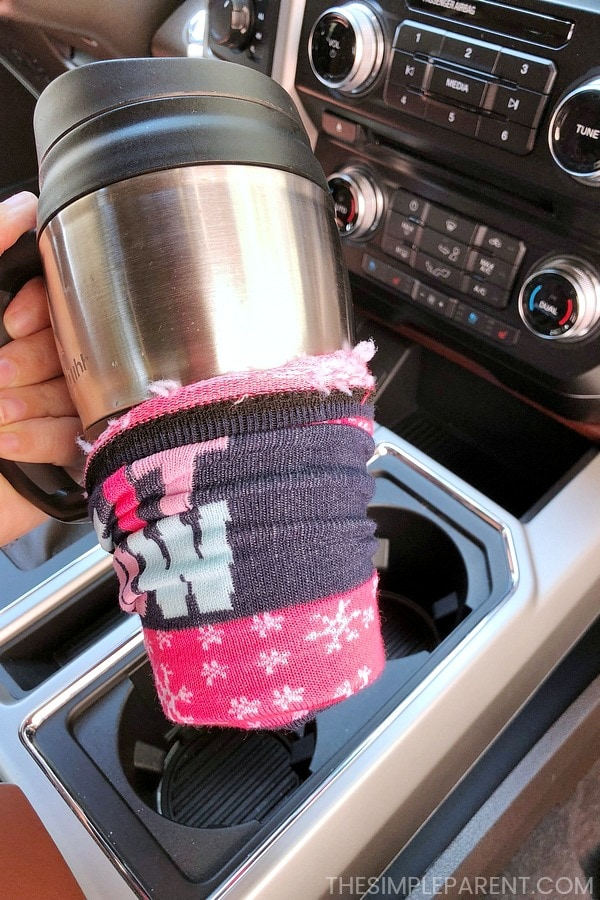 You can use an old sock to get the cup holders clean!
