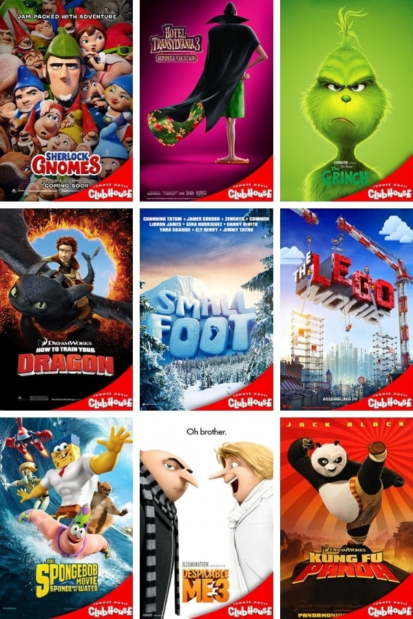 Cinemark Summer Movie Clubhouse 2019 Movies