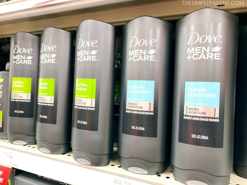 Buying Dove Men Care products at Target