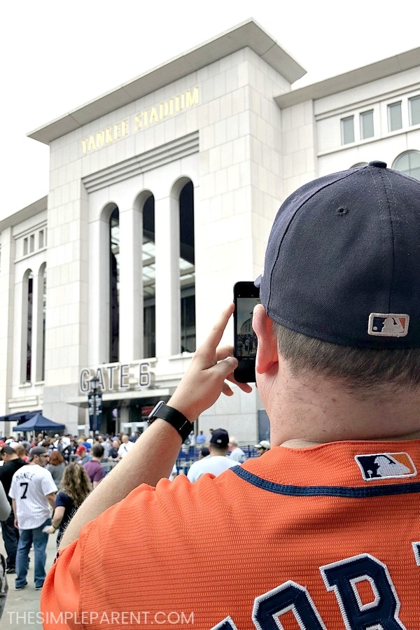 Dad at Yankee Stadium