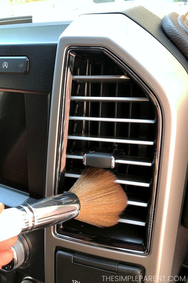 Clean your car vents using a makeup brush!