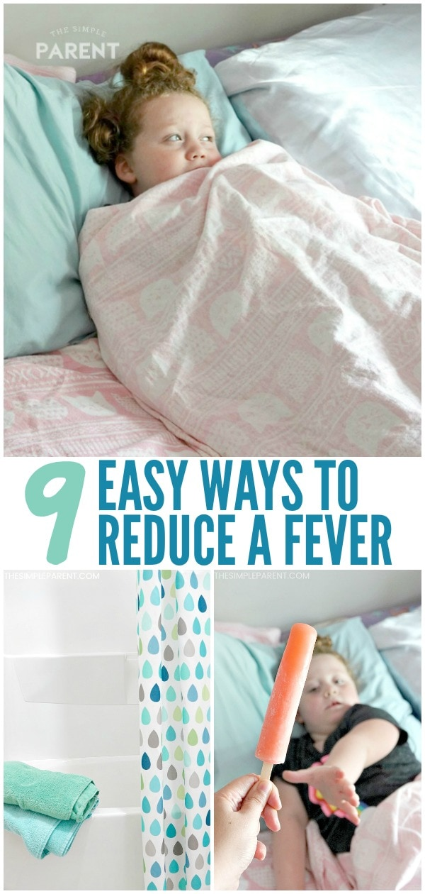 How to Reduce a Fever in Kids Naturally - These 9 easy ways to reduce fever are some that every parent should know! They work in toddlers and even adults! Help everyone feel more comfortable!