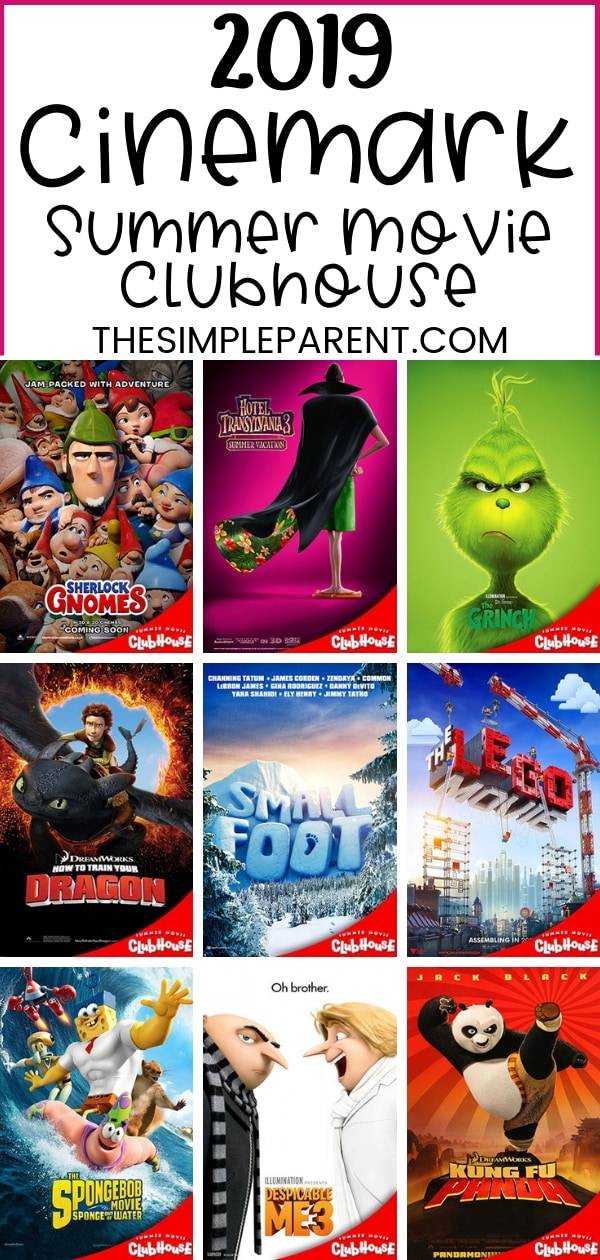 Summer Movies for Kids are a great way to stay busy without spending much money! The Cinemark Summer Movie Clubhouse lineup offers 10 weeks of movies for $1 per person, per movie!