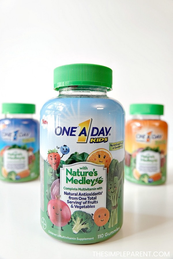 One a Day with Nature's Medley multivitamins for men, women, and kids