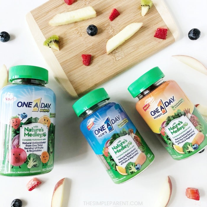 One a Day with Nature's Medley multivitamins
