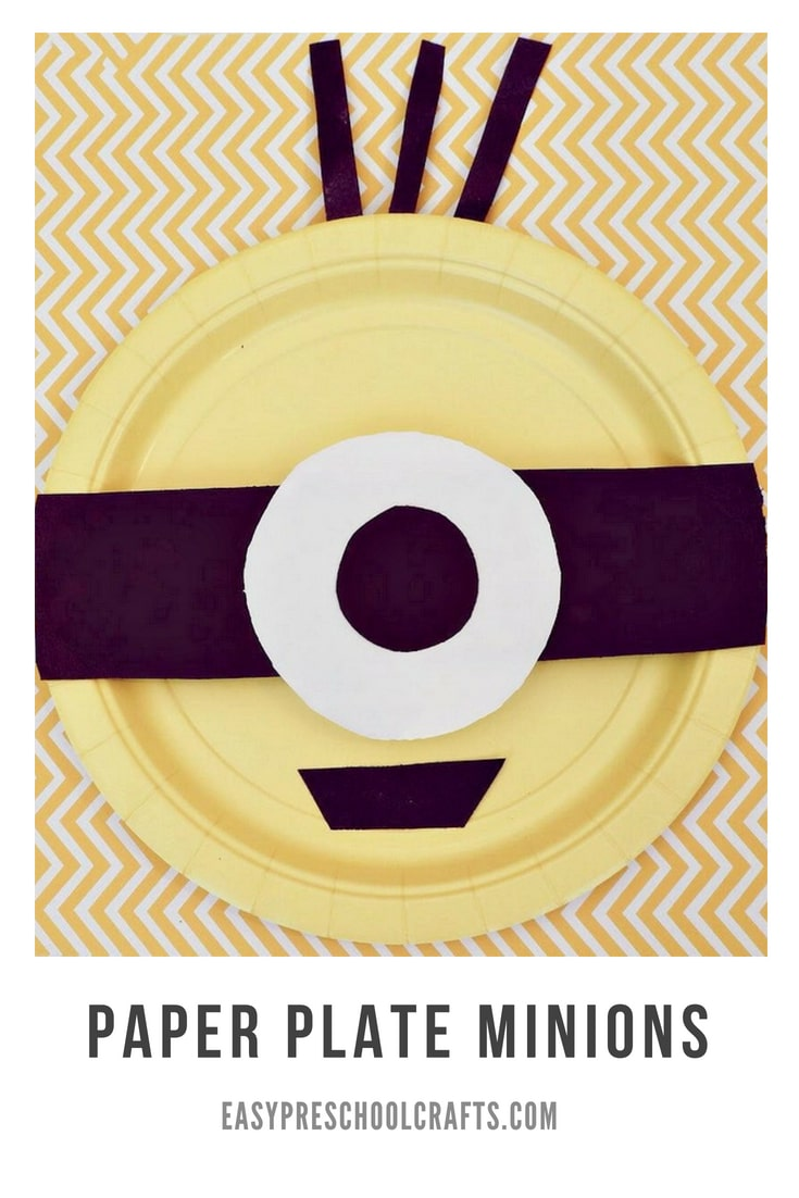 One eyed paper plate Minion craft.