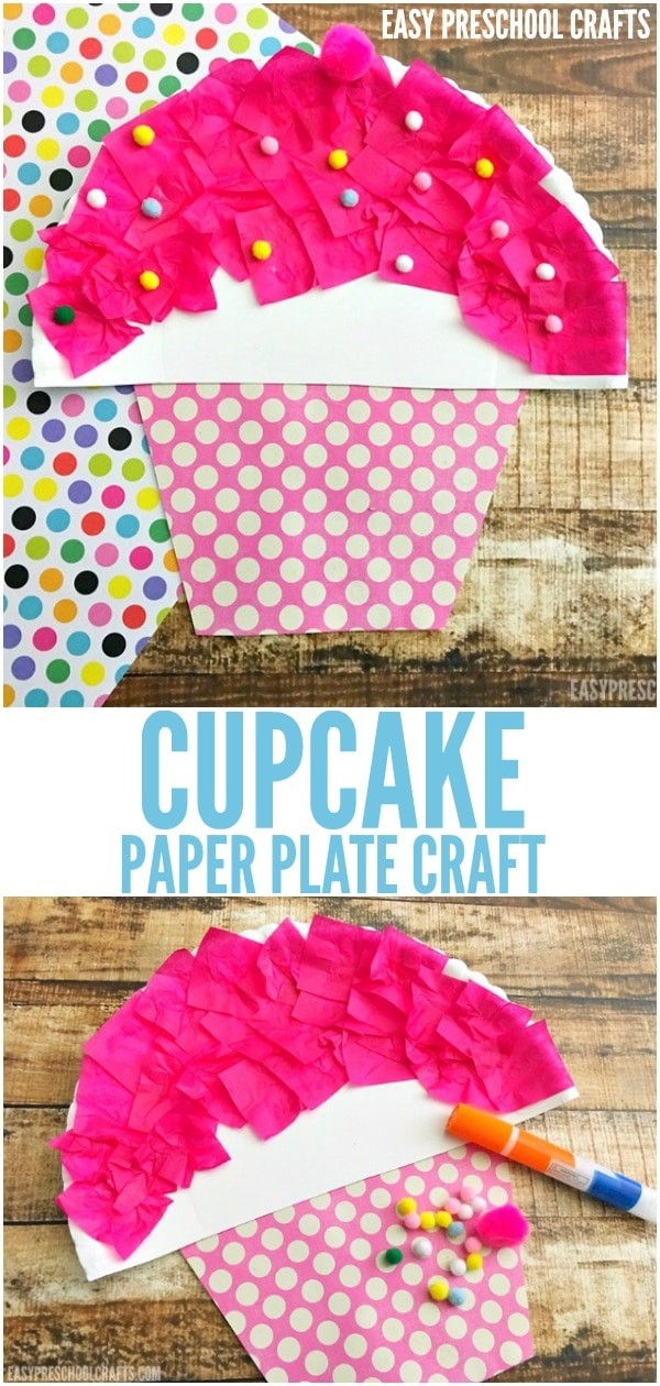 Preschool Cupcake Craft for kids is so easy to make! It's great for toddlers through elementary kids. Make it for a DIY birthday or after you read If You Give a Cat a Cupcake. See how easy it is to make!