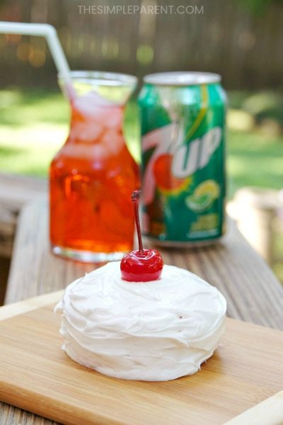 Make a Mini Shirley Temple Cake with Easy 7UP Cake Recipe!