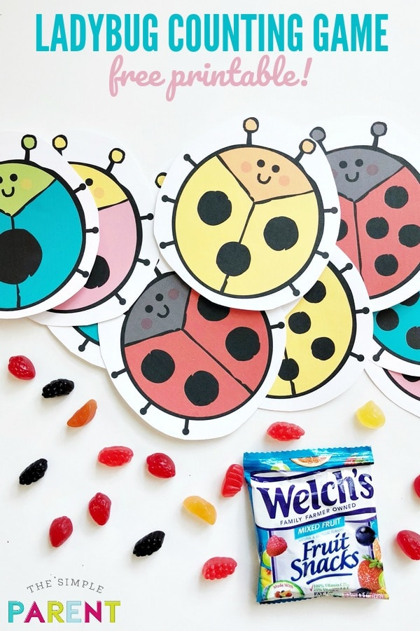 Number worksheets for kindergarten are a fun way to practice skills and get ready for back to school! Print free ladybug worksheets to practice math with fun activities! Check out how we use Welch's fruit snacks to practice numbers!