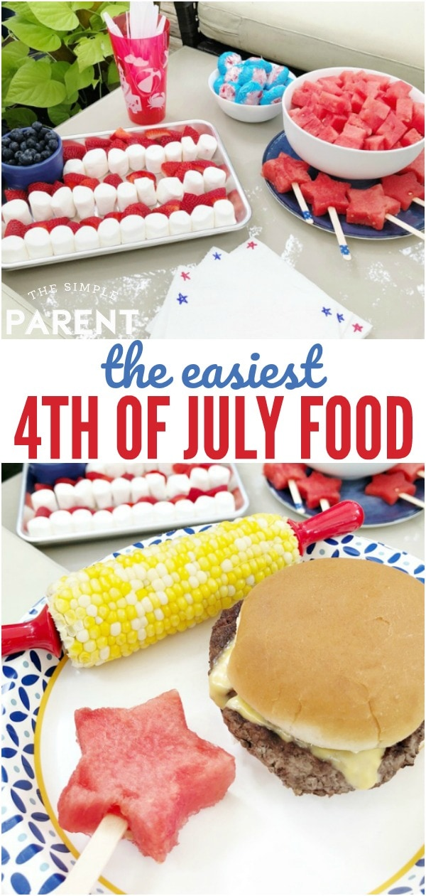 Fourth of July Food doesn't have to be complicated! Easy ideas for desserts, appetizers, sides & more will help you enjoy more time with your family! These are great ideas for kids and for a crowd or a small group!