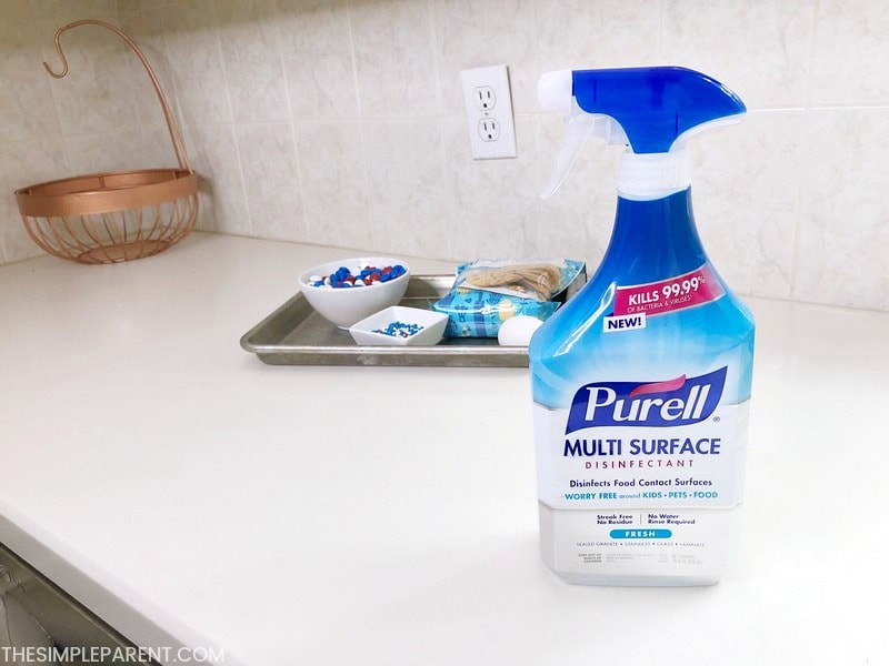 Purell Multi Surface Disinfectant in the kitchen