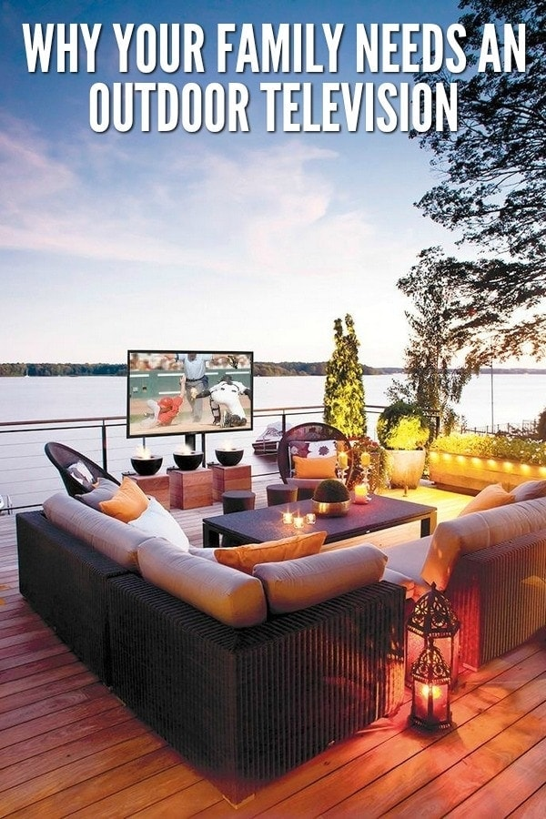 Getting an outdoor television is a great way to expand outdoor living space.