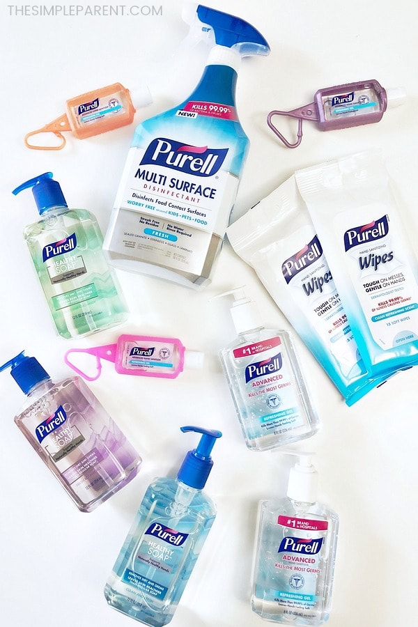 Collection of Purell products