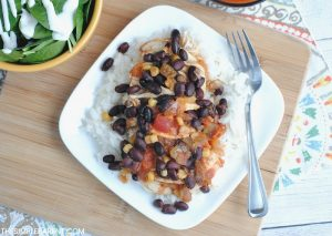 Plate of Slow Cooker Southwest Chicken