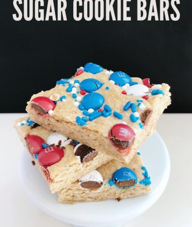 Baking Sugar Cookie Bars Together This Summer