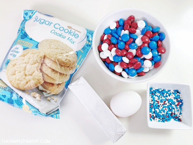 Ingredients to make sugar cookie bars