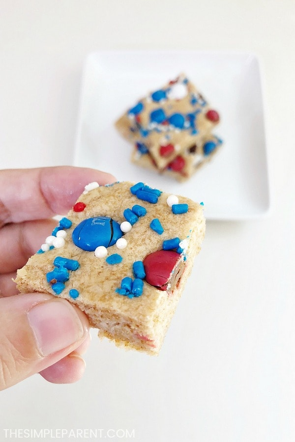 Eating sugar cookie bars