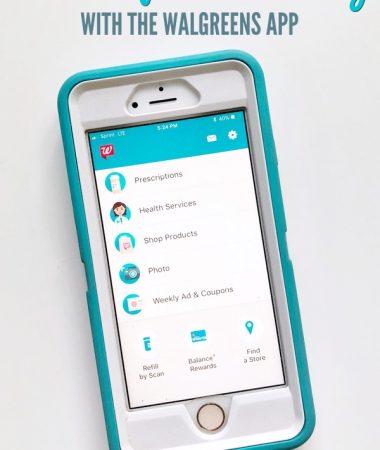 Walgreens app on iPhone