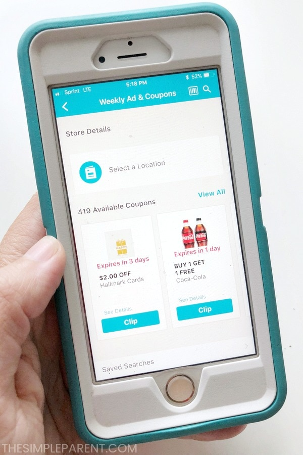 Coupons on the Walgreens app