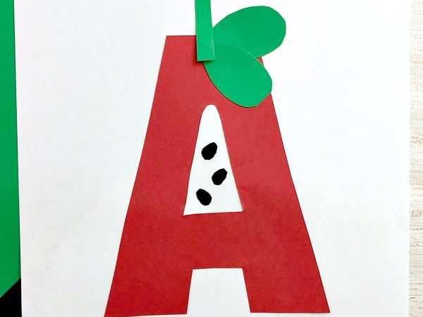 A for Apple Craft – Back to School Craft for Kids